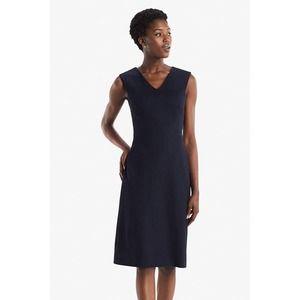 NWT M.M. LaFleur Evelyn Ponte Dress Galaxy Blue 4